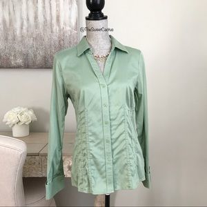 Antonio Melani Sage Green Button Down Blouse